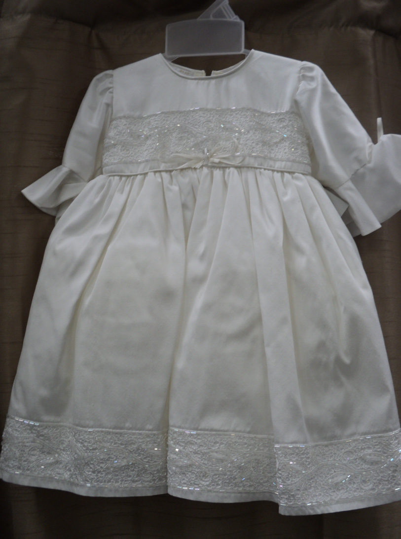 white traditional christening gown