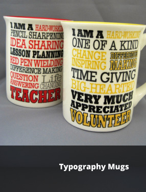 Typography Mugs