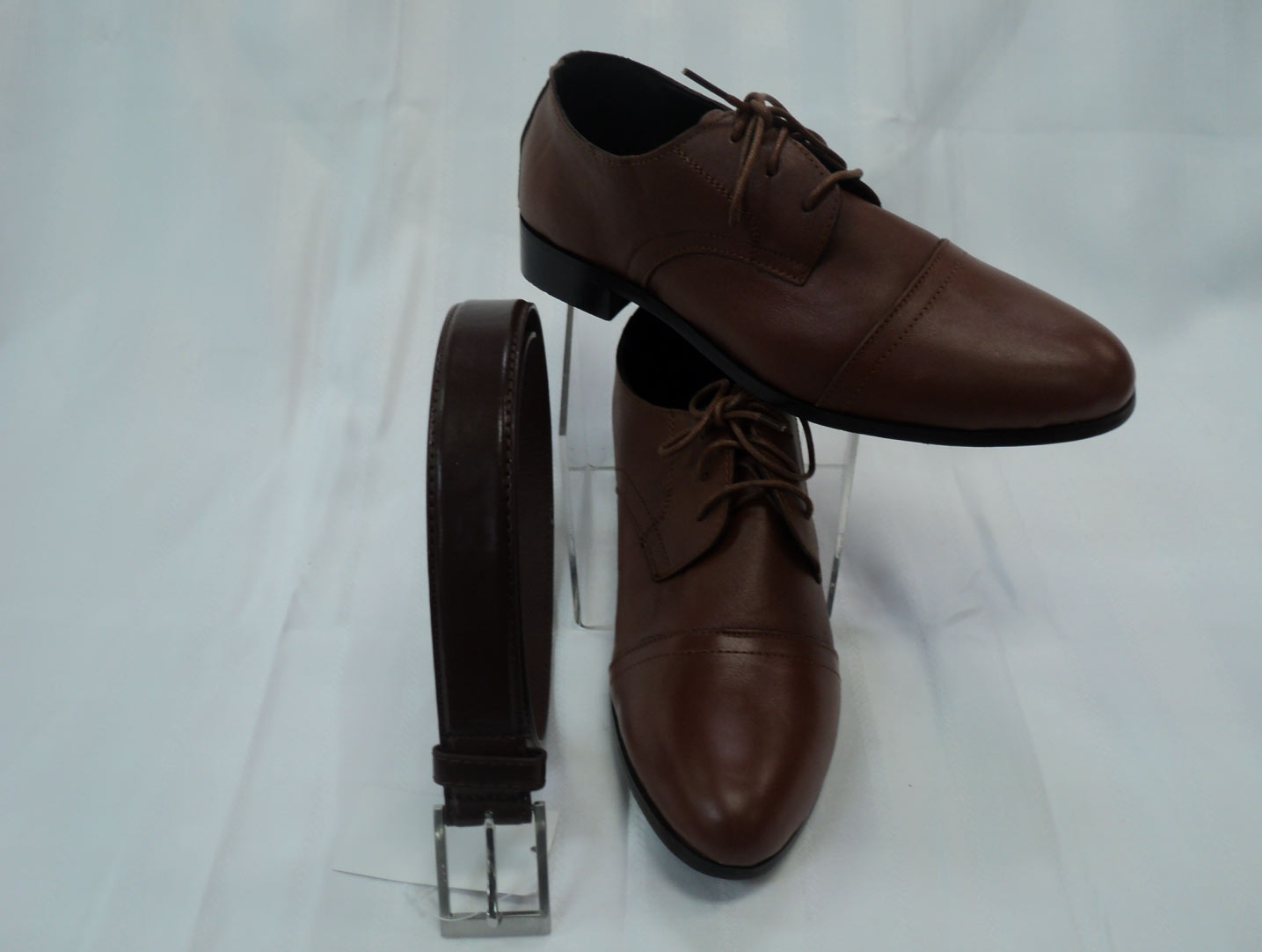 dress shoes and belt