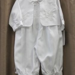 white baptism outfit