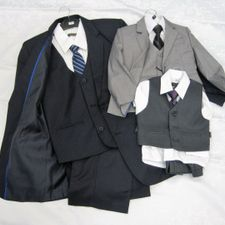 variety of sized suits